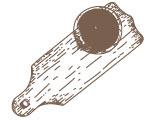Dessin  de planche à découper et son bol de cidre breton